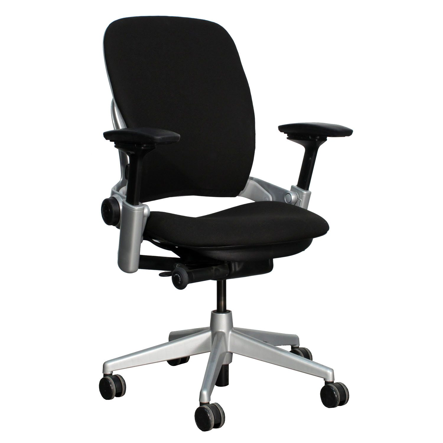 steelcase leap chair quill ergonomic v2 used task black national office