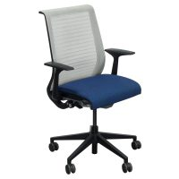 Steelcase Think Used Mesh Back Conference Chair, Blue ...