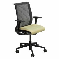 Steelcase Think Used Mesh Back Conference Chair, Yellow ...