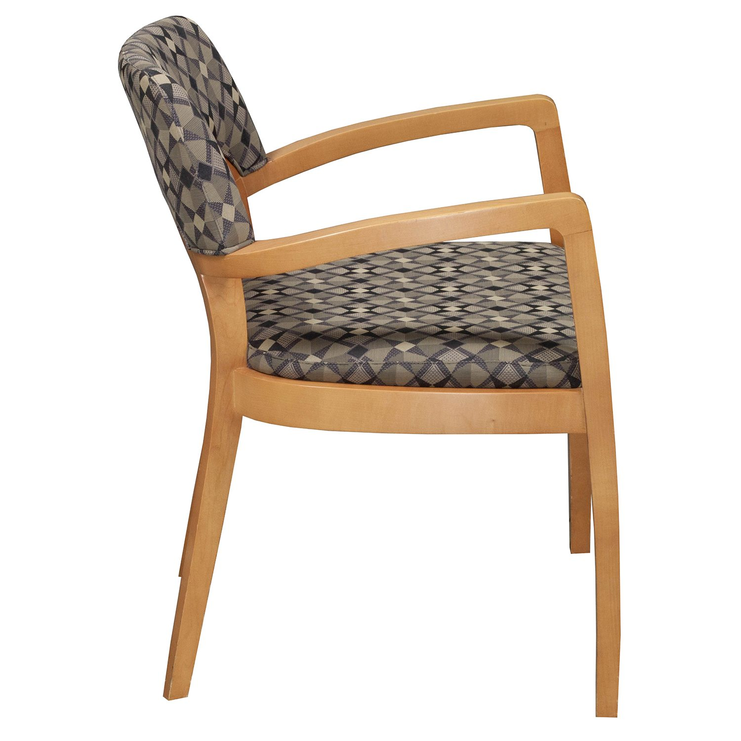 Pattern Chair Bernhardt Used Wood Side Chair Geometric Pattern