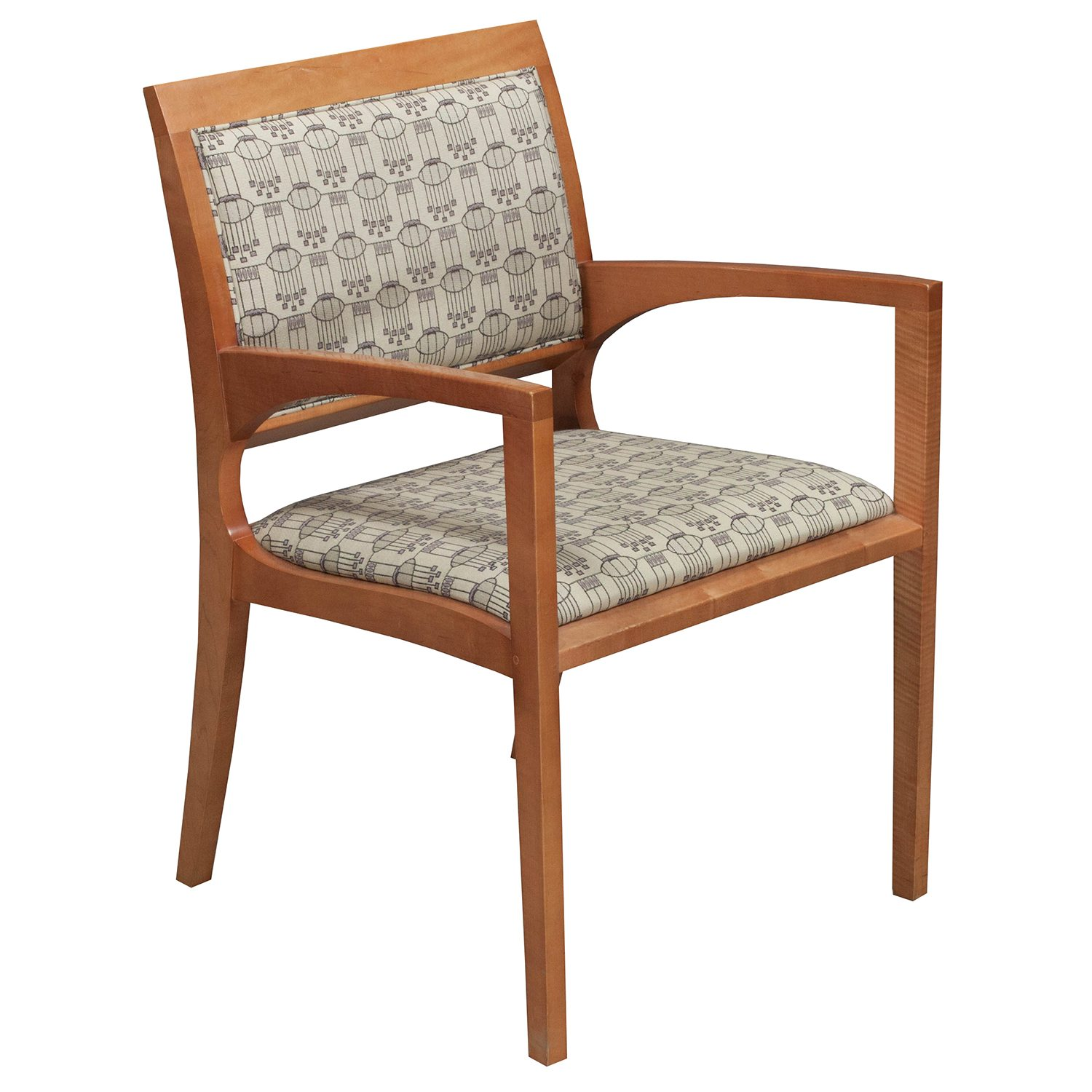 Patterned Chairs Bernhardt Used Wood Side Chair Creme Patterned National