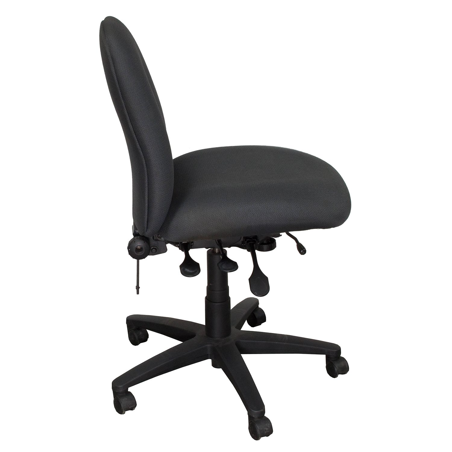 Buzz Seating Pronto Armless Task Chair, Gray