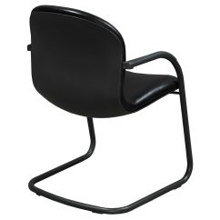 Knoll Rpm Chair Silver Crushed Velvet Bedroom Used Leather Side Black National Office