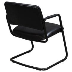 Leather Side Chair Table Chairs Rental Steelcase Used Black National Office