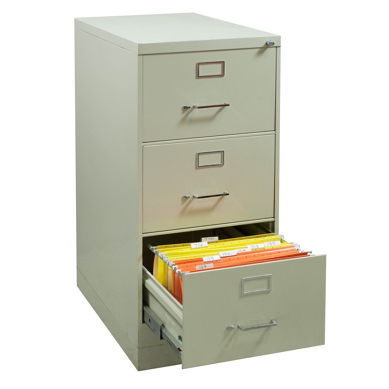 Steelcase Used 3 Drawer Legal Vertical File Cabinet Light