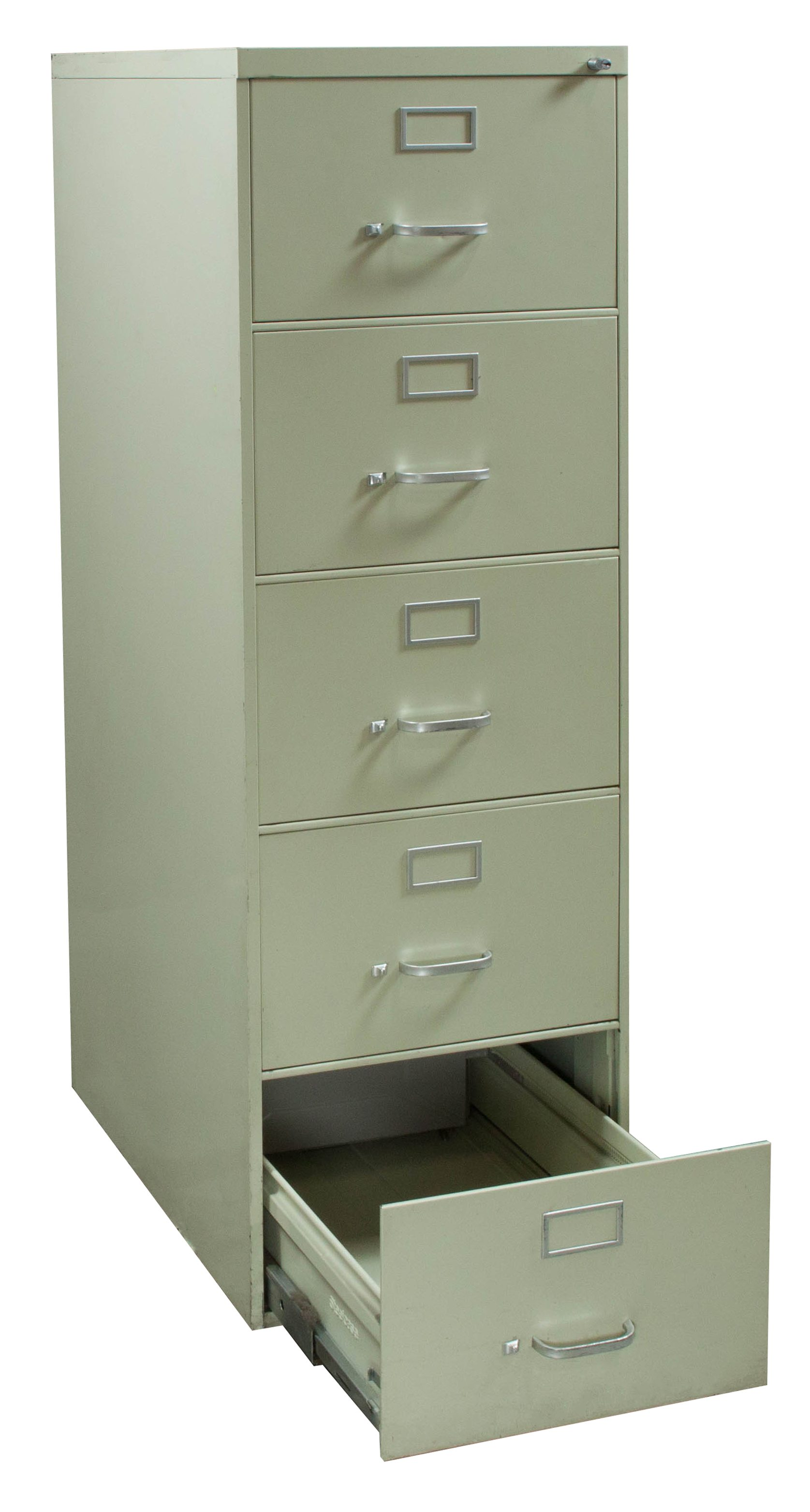 Steelcase Used 5 Drawer Legal Vertical File Cabinet Putty