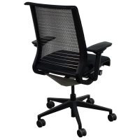 Steelcase Think Used Task Chair, Black Mesh | National ...