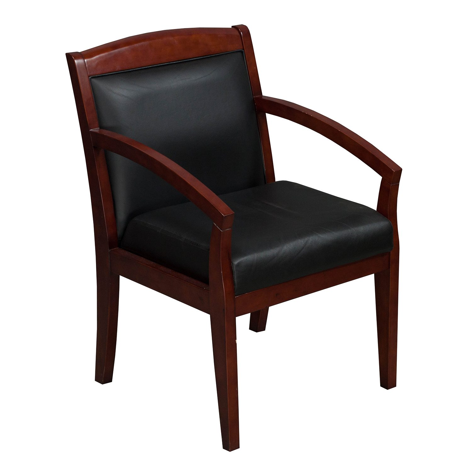 black wood chair bubble chairs for sale tiffany industries used side leather