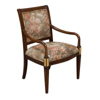 Traditional Wooden Side Chair, Floral | National Office ...