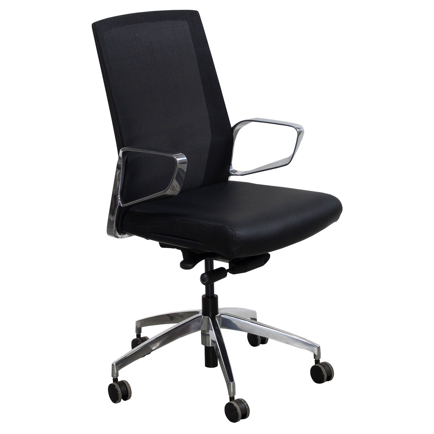Leather Conference Room Chairs Maris By Gosit Leather And Mesh Conference Chair Black