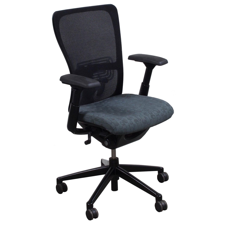 Haworth Zody Used Task Chair Gray Circle Pattern