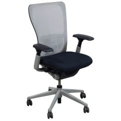 Haworth Zody Chair Fishing Bed Legs Used Task White Mesh National Office