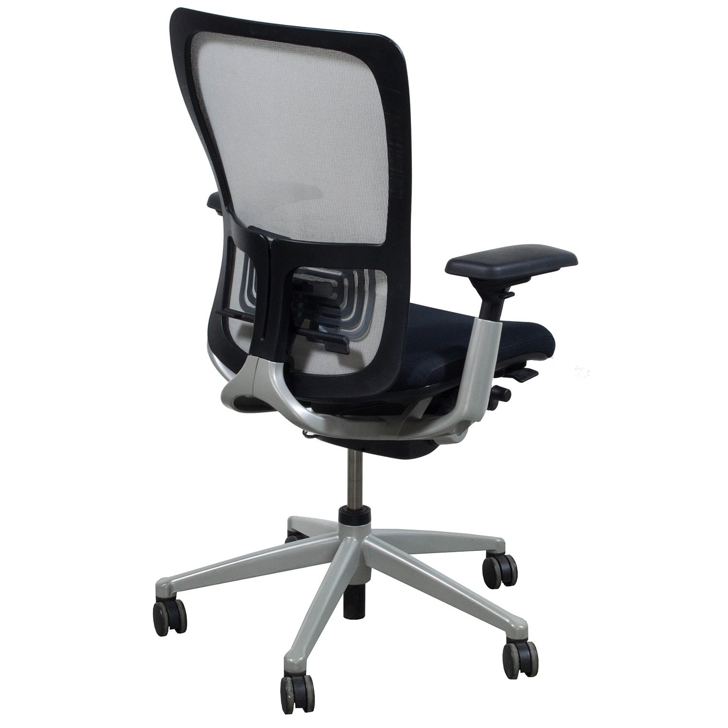 haworth zody chair skyline furniture armless accent used task white mesh national office