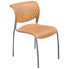 Orange Stackable Chairs Clear Dining Room Chair Covers Izzy 43 Hannah Used Stack National Office