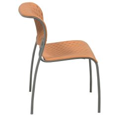 Orange Stackable Chairs Mainstays Rocking Chair Izzy 43 Hannah Used Stack National Office