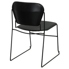 Folding Chair Liquidation Office Gaming Ki Perry Used Leather Stack Black National