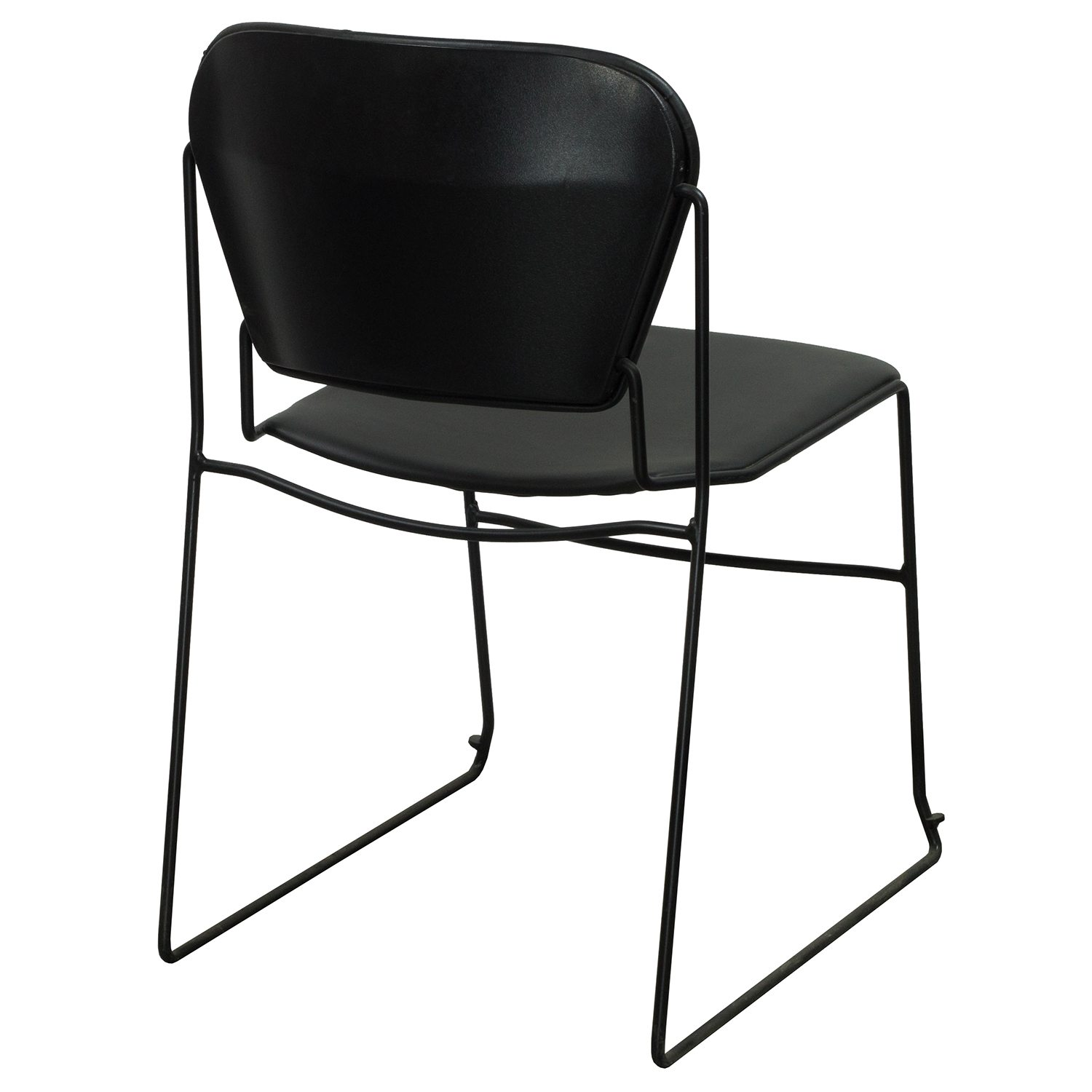Ki Chairs Ki Perry Used Leather Stack Chair Black National Office
