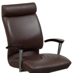 Dark Brown Leather Chair How To Make A Throne In Minecraft Ofs Cs2 Used High Back Conference
