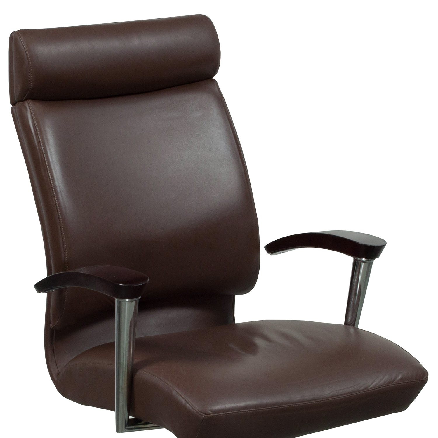 Leather Conference Room Chairs Ofs Cs2 Used High Back Leather Conference Chair Dark