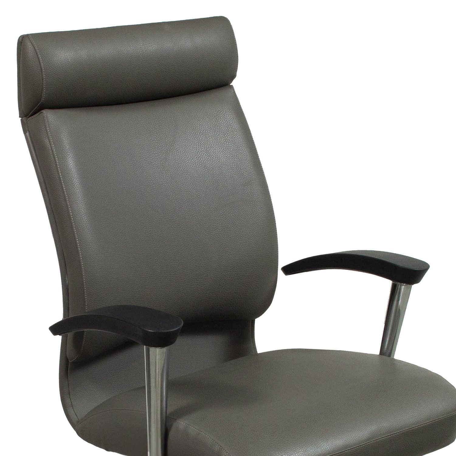 Leather Conference Room Chairs Ofs Cs2 Used High Back Leather Conference Chair Gray