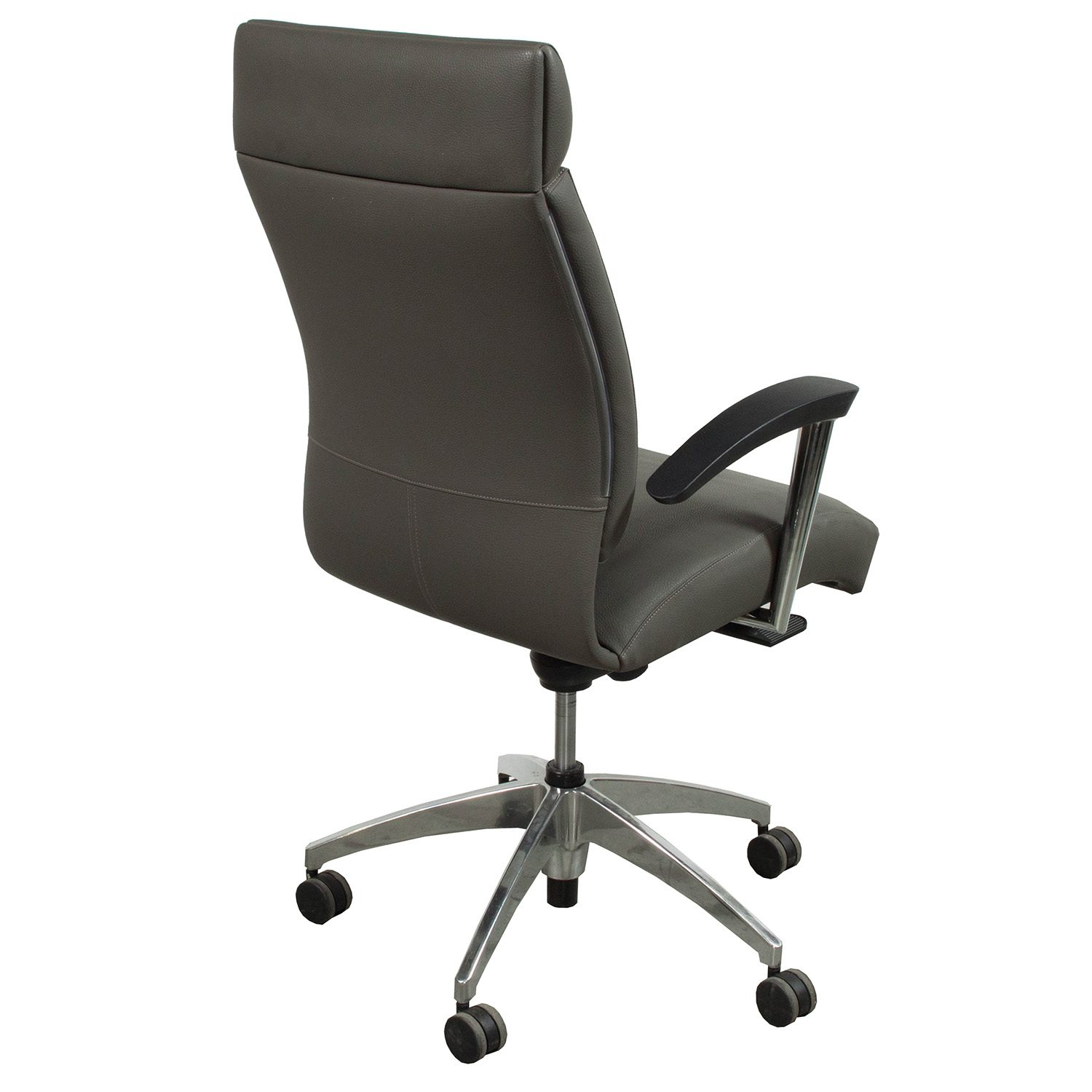 Used High Chairs Ofs Cs2 Used High Back Leather Conference Chair Gray