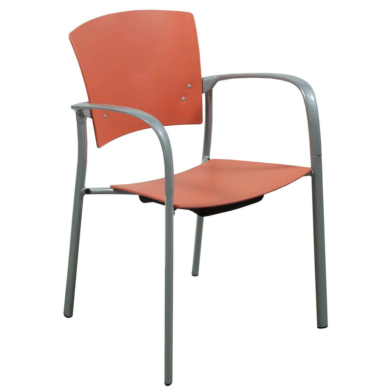 orange stackable chairs hans wegner wishbone steelcase enea used stack chair national office
