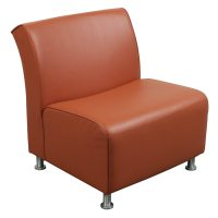 Steelcase Jenny Used Leather Reception Chair, Orange