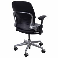 Steelcase Leap V2 Used 3D Mesh Leather Task Chair, Black