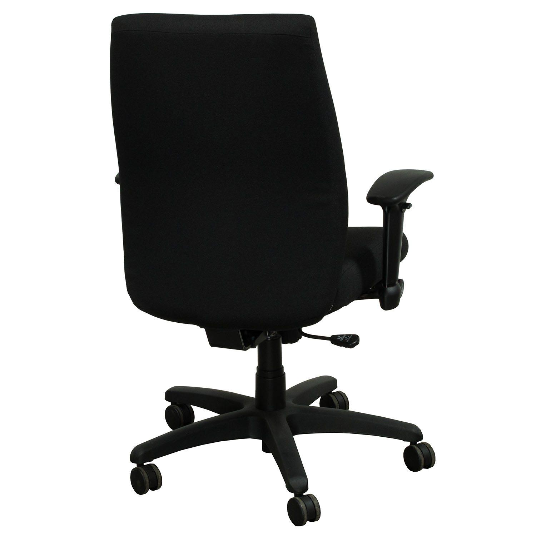 allsteel office chair posture bad back ambition used task black national