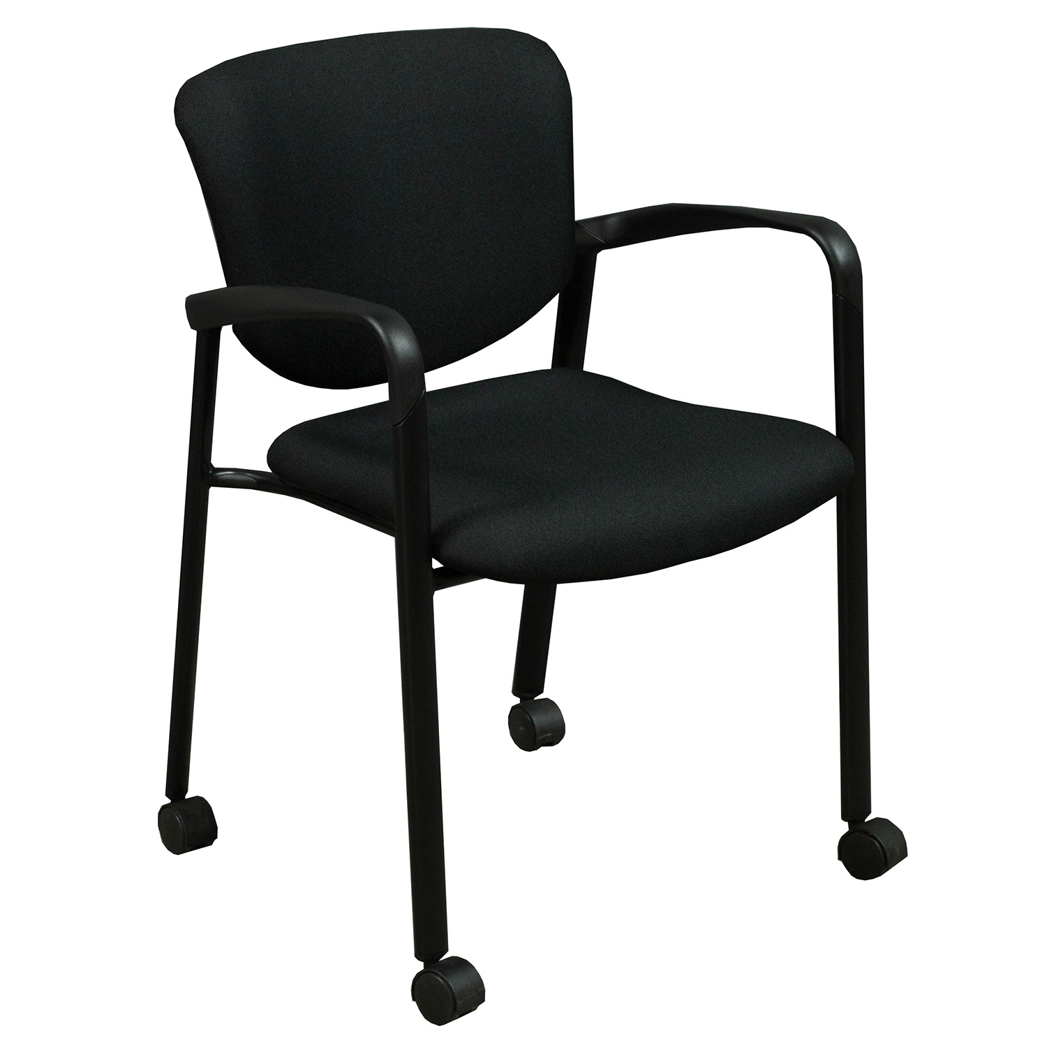 Haworth Improv Used Mobile Stack Chair, Black