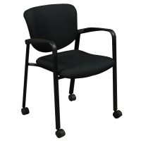 Haworth Improv Used Mobile Stack Chair, Black | National ...