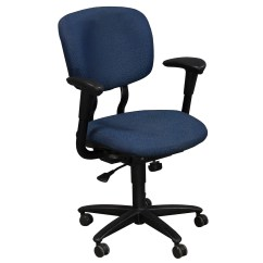 Desk Chair Blue Adec Performer Parts Haworth Improv Used Task National