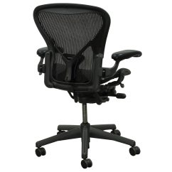 Aeron Office Chairs Pottery Barn Wicker Chair Cushions Herman Miller Posturefit Used Size C Task