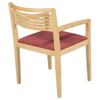 Knoll Ricchio Maple Wood Side Chair, Red Oval Pattern ...