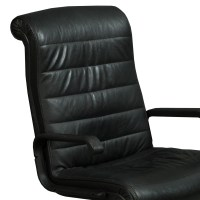 Knoll Sapper Executive Used Leather Chair, Black