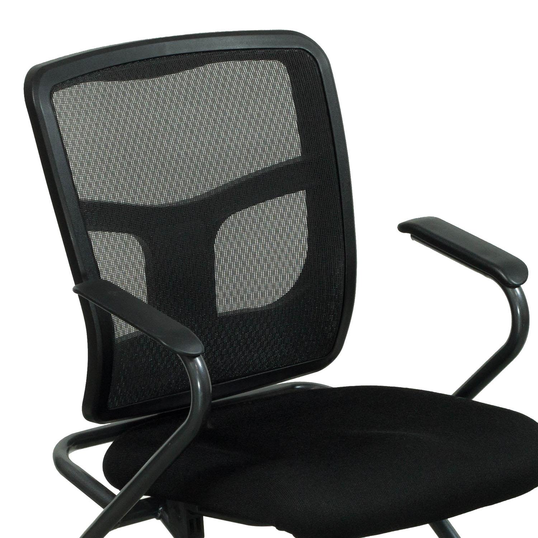 Premiera Used Mesh Back Nesting Chair Black  National