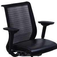 Steelcase Think Used Leather and Mesh Task Chair, Black ...
