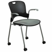 Herman Miller Caper Used Mobile Stack Chair, Black and ...