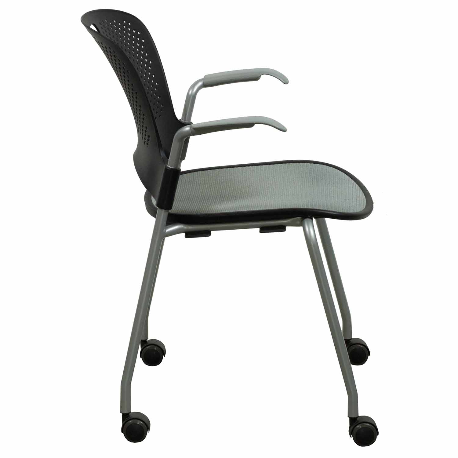 Caper Chair Herman Miller Caper Used Mobile Stack Chair Black And