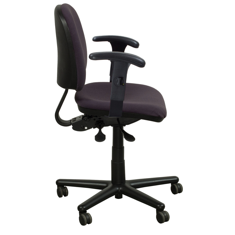 purple task chair bunjo bungee kimball used midback national office interiors