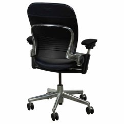 Steelcase Leap Chair Ergonomic Portable Used Leather Task Blue National