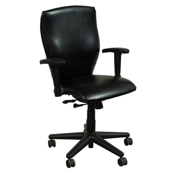 Allsteel Energy Used Leather Task Chair Black  National