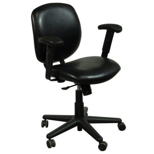 Allsteel Trooper Used Leather Task Chair Black
