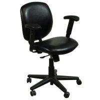 Allsteel Trooper Used Leather Task Chair, Black