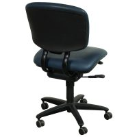Haworth Improv Used Armless Leather Task Chair, Blue