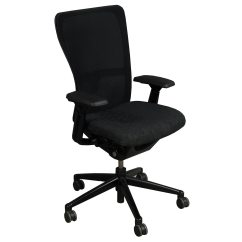 Haworth Zody Chair Mickey Mouse Rocking Used Task Black Circle Pattern National Office