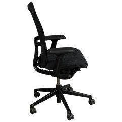 Haworth Zody Chair Fishing Mechanism Used Task Black Circle Pattern