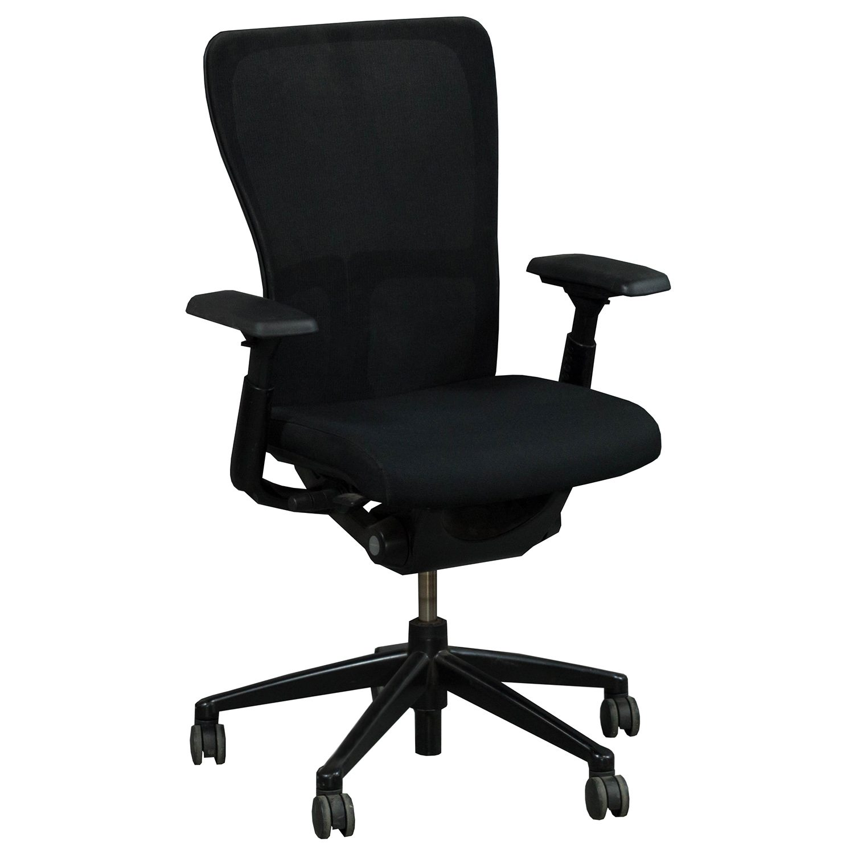 haworth zody chair folding lifetime mesh back used task black national