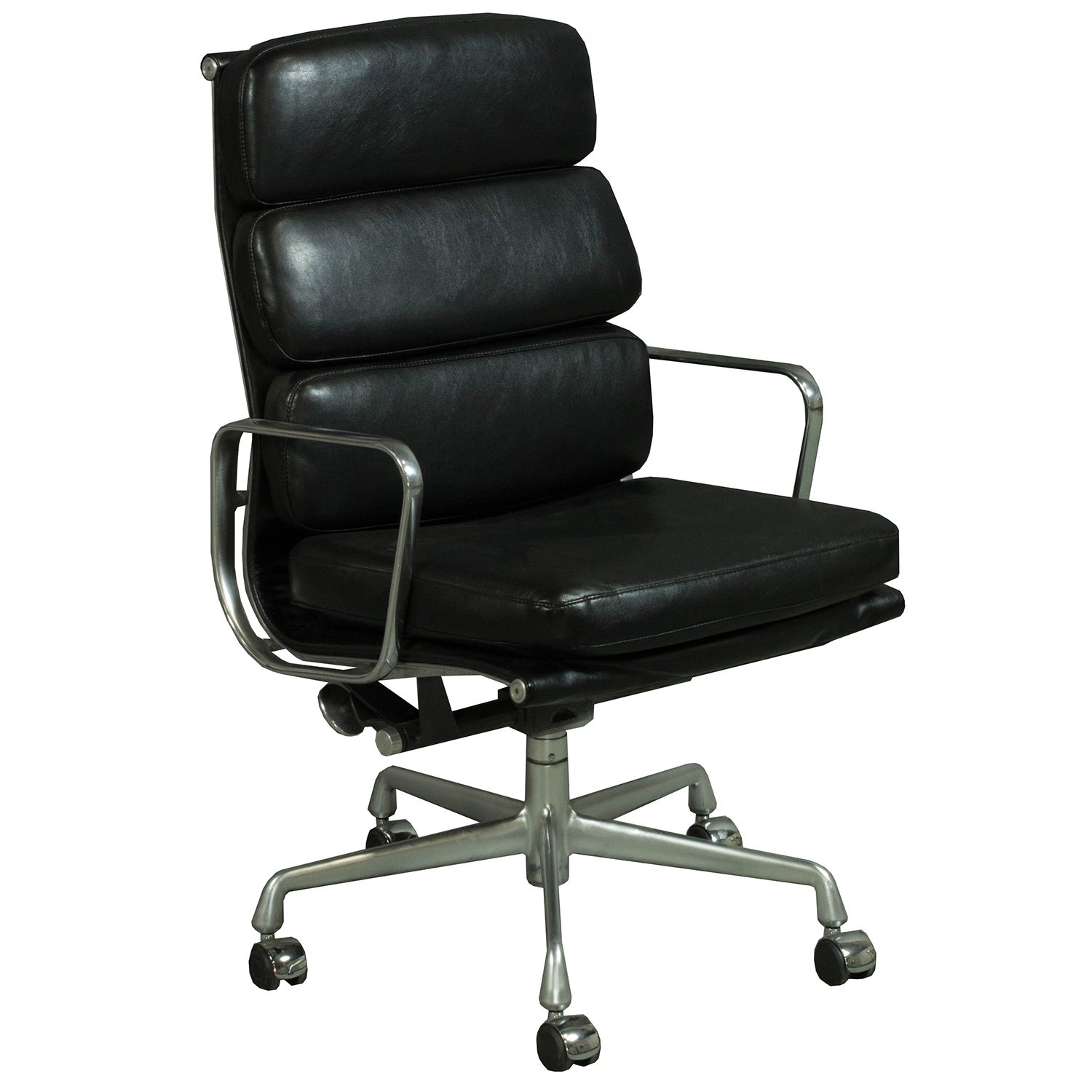 Herman Miller Eames Chair Herman Miller Eames Used Leather Soft Pad High Back Chair