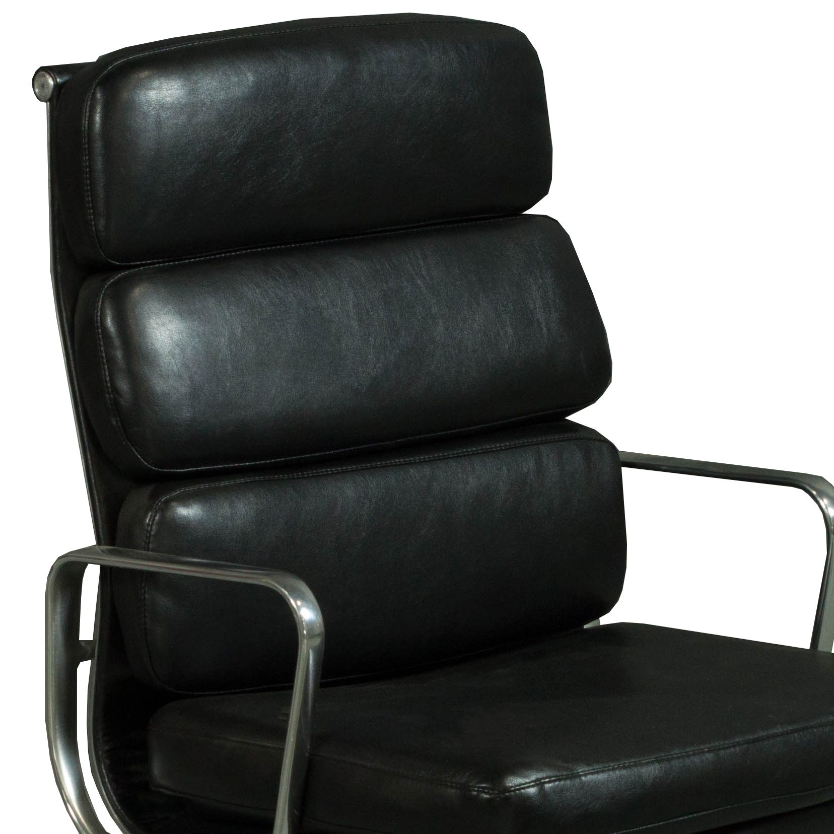 herman miller leather chair electric lift recliner sale eames used soft pad high back